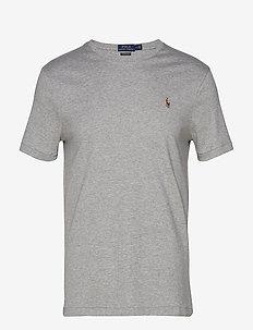 Custom Slim Fit Interlock Tee - short-sleeved t-shirts - andover heather