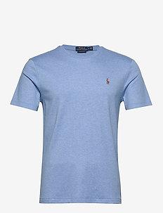 Custom Slim Soft Cotton Tee - basis-t-skjorter - soft royal heathe