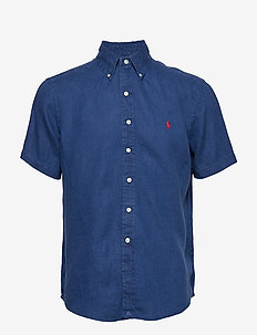 Classic Fit Linen Shirt - HOLIDAY NAVY