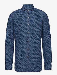 SPR BRWNSTN-LONG SLEEVE-SPORT SHIRT - 3283 INDIGO PAISL