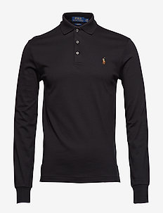 LSKCSLM12-LONG SLEEVE-KNIT - POLO BLACK
