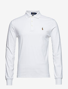LSKCSLM12-LONG SLEEVE-KNIT - long-sleeved polos - white
