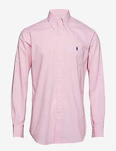 Classic Fit Gingham Cotton Shirt - CARMEL PINK
