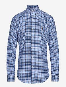 Slim Fit Gingham Oxford Shirt - 3035 WHITE/LATERA