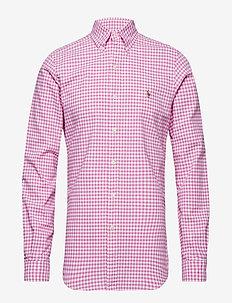 Slim Fit Gingham Oxford Shirt - 3038B ROSE/WHITE