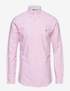 Slim Fit Gingham Oxford Shirt - NEW ROSE
