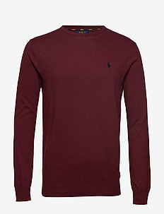 Slim Fit Cotton Sweater - CLASSIC WINE HEAT