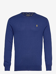 Slim Fit Cotton Sweater - basic-strickmode - dark royal