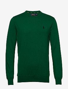 Slim Fit Cotton Sweater - stickade basplagg - new forest
