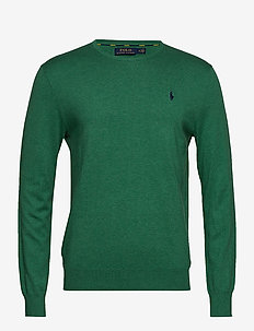 Slim Fit Cotton Sweater - POTOMAC GREEN HEA