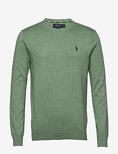 Slim Fit Cotton Sweater - basic strik - seafoam heather