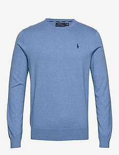 Slim Fit Cotton Sweater - SOFT ROYAL HEATHE