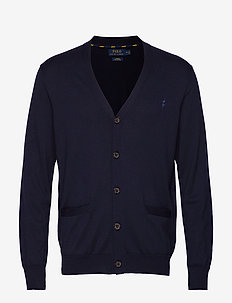 Slim Fit Cotton Cardigan - basic-strickmode - hunter navy