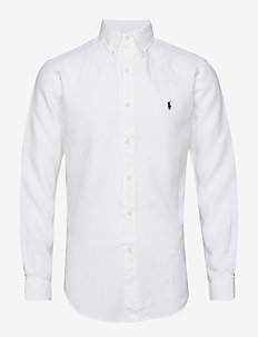 Slim Fit Linen Shirt - PURE WHITE