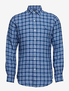 SLSPRESTPPC-LONG SLEEVE-SPORT SHIRT - 3335 AZURE/NAVY M