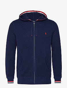 Cotton Full-Zip Sweater - NAVY MULTI
