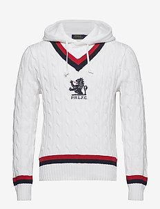 Hooded Cricket Sweater - CREAM MULTI