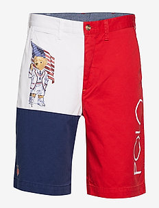 Relaxed Fit Polo Bear Short - FLAG BEAR OLYMPIA