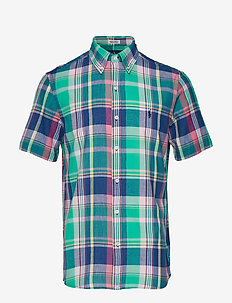 Custom Fit Madras Shirt - 4016 GREEN MULTI