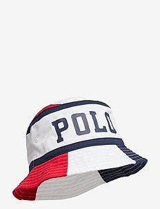 Polo Cotton Twill Bucket Hat - RL 2000 RD/PR WHT