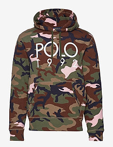 Cotton-Blend Graphic Hoodie - OLIVE/PINK CAMO