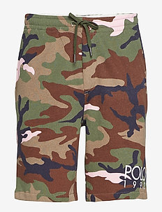 Cotton-Blend-Fleece Short - OLIVE/PINK CAMO