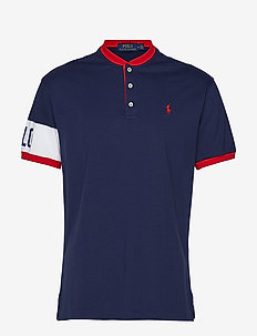 Classic Fit Cotton Henley - FRENCH NAVY/WHITE