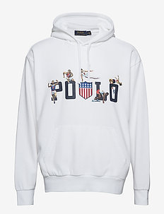 Cotton-Blend Graphic Hoodie - WHITE