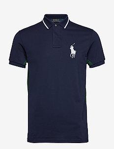 Wimbledon Ball Boy Polo Shirt - FRENCH NAVY MULTI