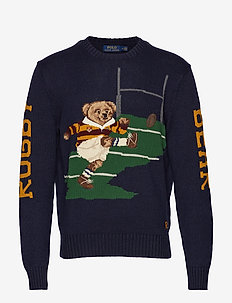 Rugby Bear Sweater - NAVY