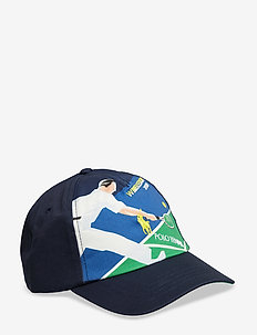 Wimbledon Cotton Twill Cap - NEWPORT NAVY POST