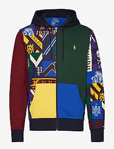 Patchwork Double-Knit Hoodie - COLLEGIATE PATCHW