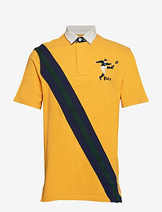 Classic Fit Mesh Rugby Shirt - GOLD BUGLE MULTI