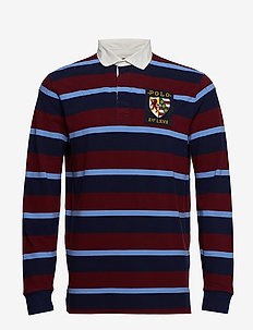 Classic Fit Cotton Mesh Rugby - CLASSIC WINE MULT