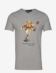 Custom Slim Fit Bear Tee - ANDOVER HEATHER