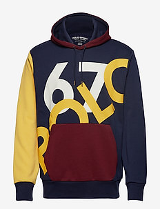 Double-Knit Graphic Hoodie - CRUISE NAVY MULTI