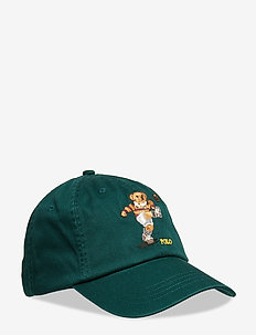 Rugby Bear Cotton Chino Cap - COLLEGE GREEN