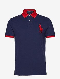 Custom Slim Fit Mesh Polo - NEWPORT NAVY