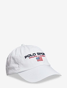 Flag Cotton Chino Cap - PURE WHITE W/ POL