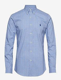 Slim Fit Plaid Poplin Shirt - 4035A LIGHT BLUE