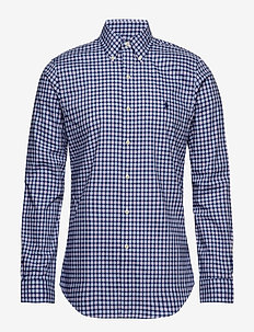 Slim Fit Plaid Poplin Shirt - 4035C NAVY MULTI