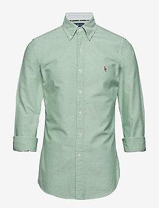 Slim Fit Plaid Oxford Shirt - 4070B COLLEGE GRE