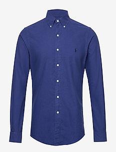 Slim Fit Cotton Oxford Shirt - BLUE YACHT