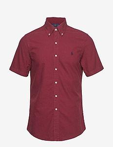 Slim Fit Oxford Shirt - AUBERGINE