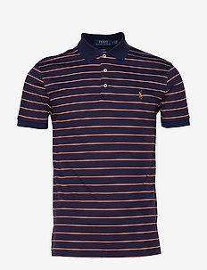 Slim Fit Interlock Polo Shirt - FRENCH NAVY MULTI