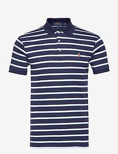 Slim Fit Interlock Polo Shirt - kortærmede - french navy multi