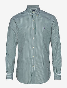 Custom Fit Plaid Stretch Shirt - 4034B GREEN/STRIP