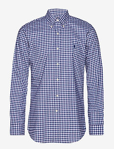 Custom Fit Plaid Stretch Shirt - 4035C NAVY MULTI