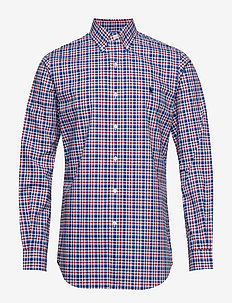 Custom Fit Plaid Stretch Shirt - 4036 NAVY MULTI