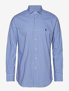 Custom Fit Plaid Cotton Shirt - 4035A LIGHT BLUE
